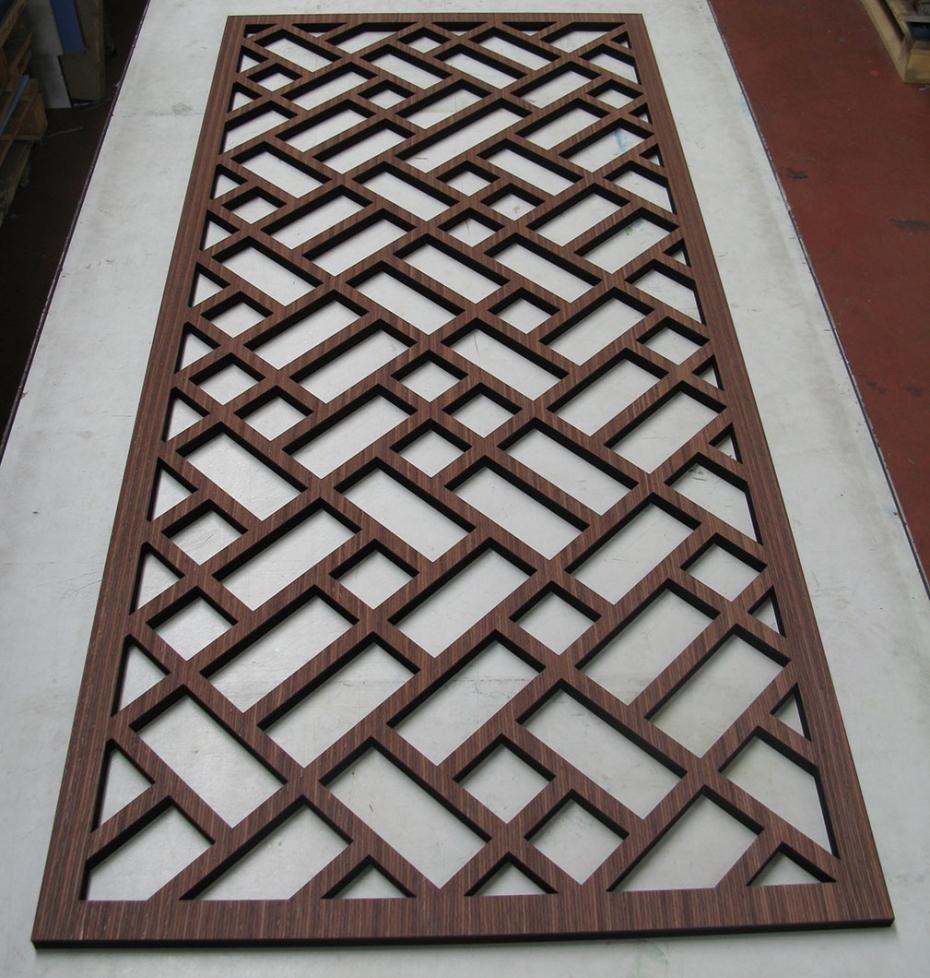 Mobile credenza angolare stile moderno - Divisori in legno per interni ...